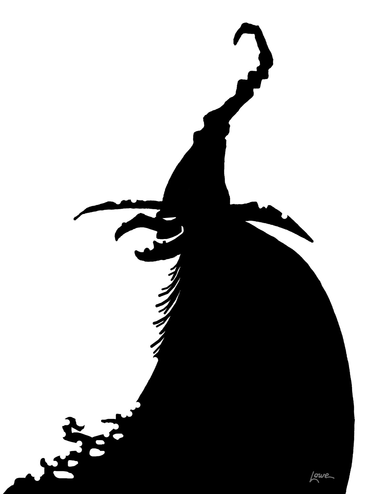 Titanic clipart silhouette Halloween Silhouette Templates Witch Images