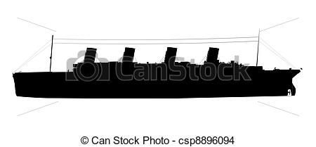 Titanic clipart silhouette Silhouette  of titanic Drawing