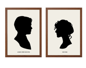 Titanic clipart silhouette Poster: Titanic And Rose Jack