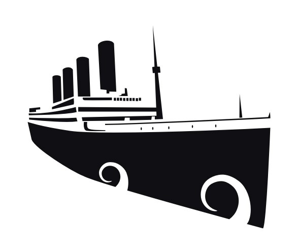 Titanic clipart silhouette Titanic illustration Vector Illustration Silhouette
