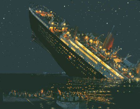 Titanic clipart sunken ship Titanic SinkingTitanic less the 3