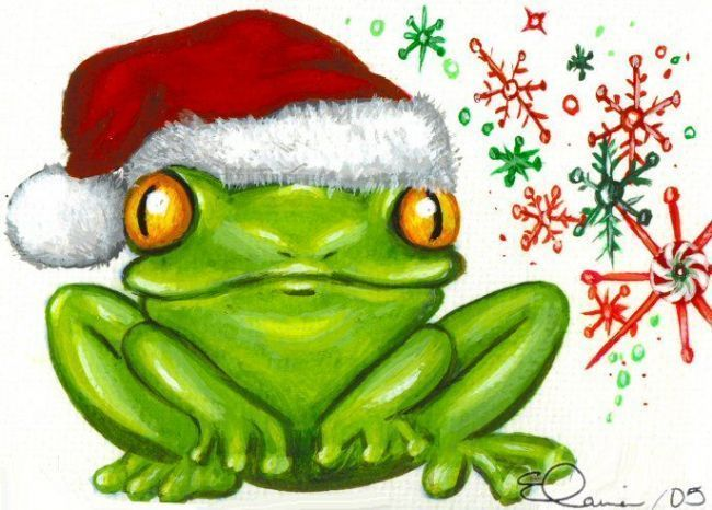 Tree Frog clipart christmas #2