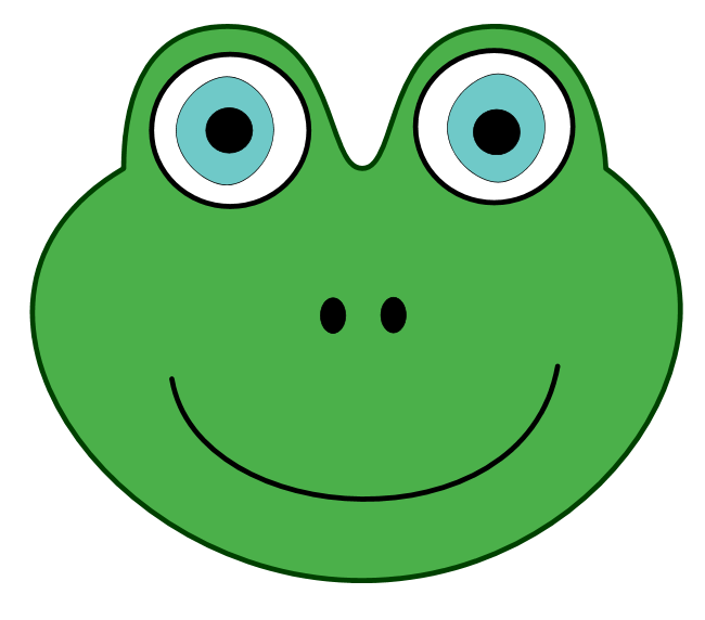 Toad clipart frog face #6