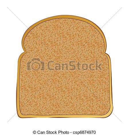Toast clipart Clipart Slice toast  art