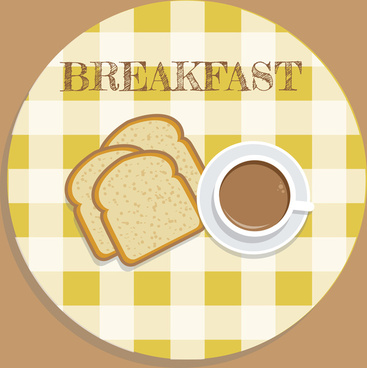 Toast clipart coffee and Free vector) breakfast  free