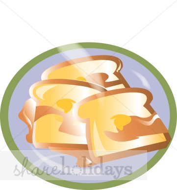Toast clipart plate Clipart Plate Toast French Mother's
