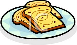 Toast clipart plate Of a of Toast Swirl