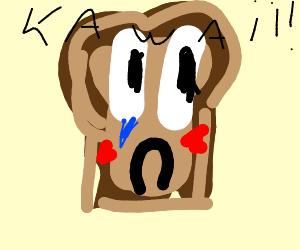 Toast clipart sad Toast slice toast A kawaii