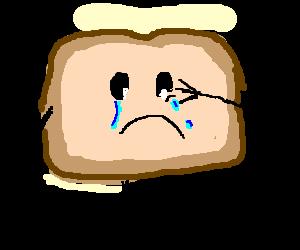 Toast clipart sad  Sad chocolate toast sad