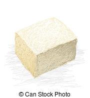 Tofu clipart  isolated free Illustrations closeup