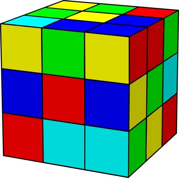 Cube clipart rubik's cube Cube art vector office Rubik