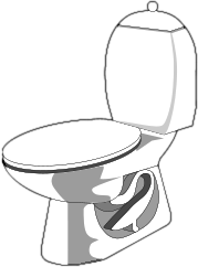 Toilet clipart coloring #5
