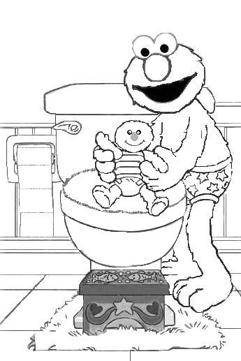 Toilet clipart coloring #3