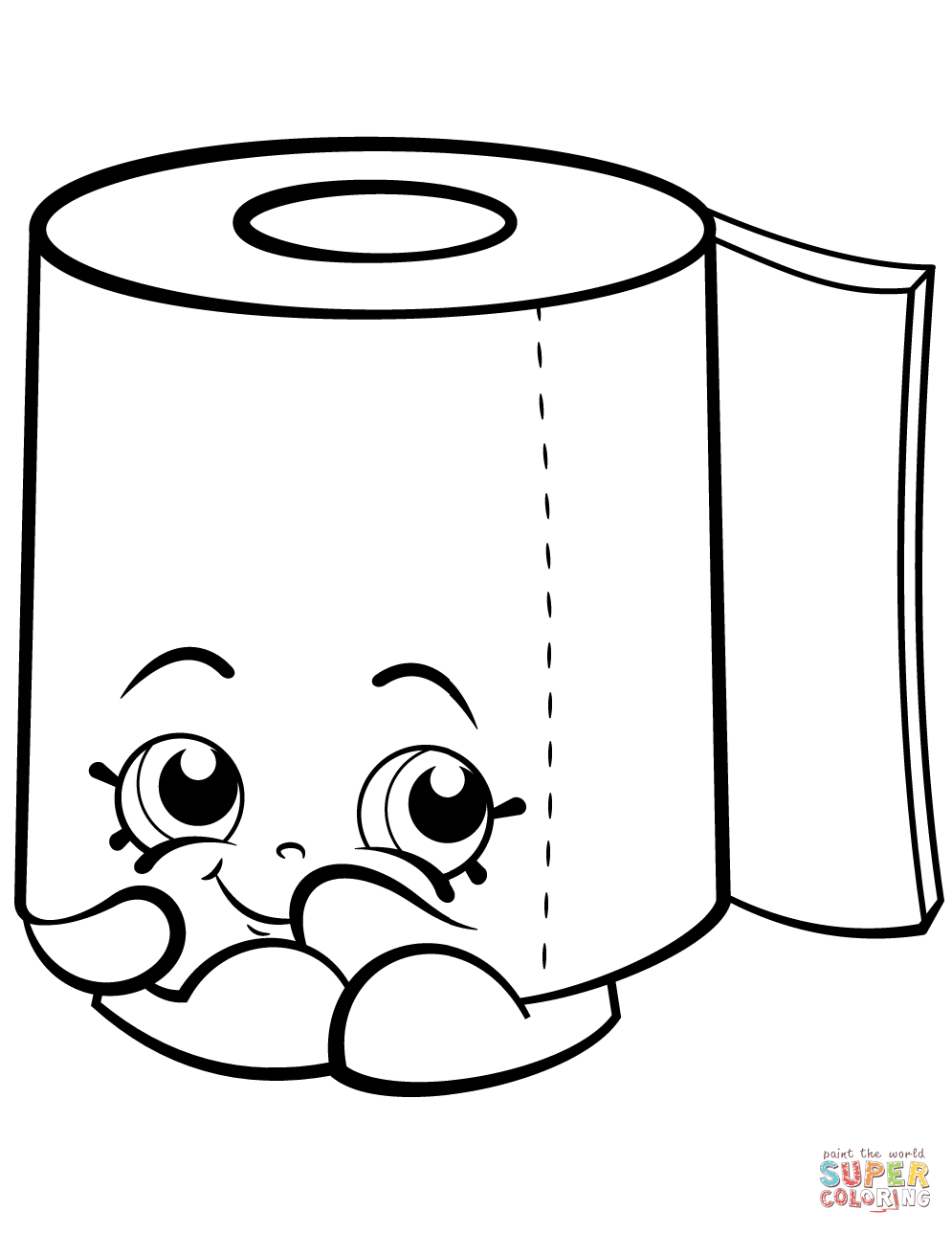 Toilet clipart coloring #1