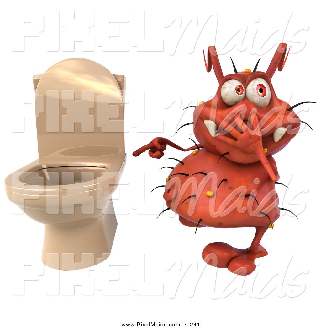 Toilet clipart germ #2