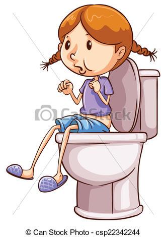 Toilet clipart person #4