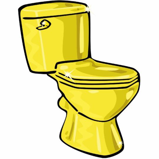Toilet clipart yellow #5