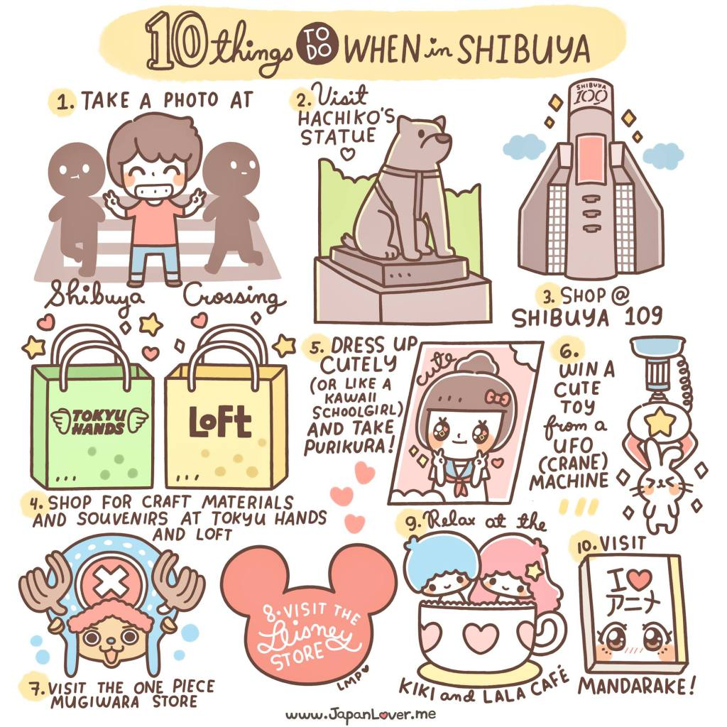 Tokyo clipart Tokyo Attractions 10 Shibuya Do in To