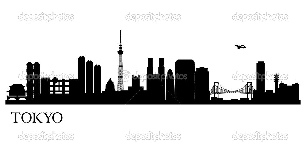 Tokyo clipart Tokyo Skyline Clipart Home  Google Pinterest silhouette