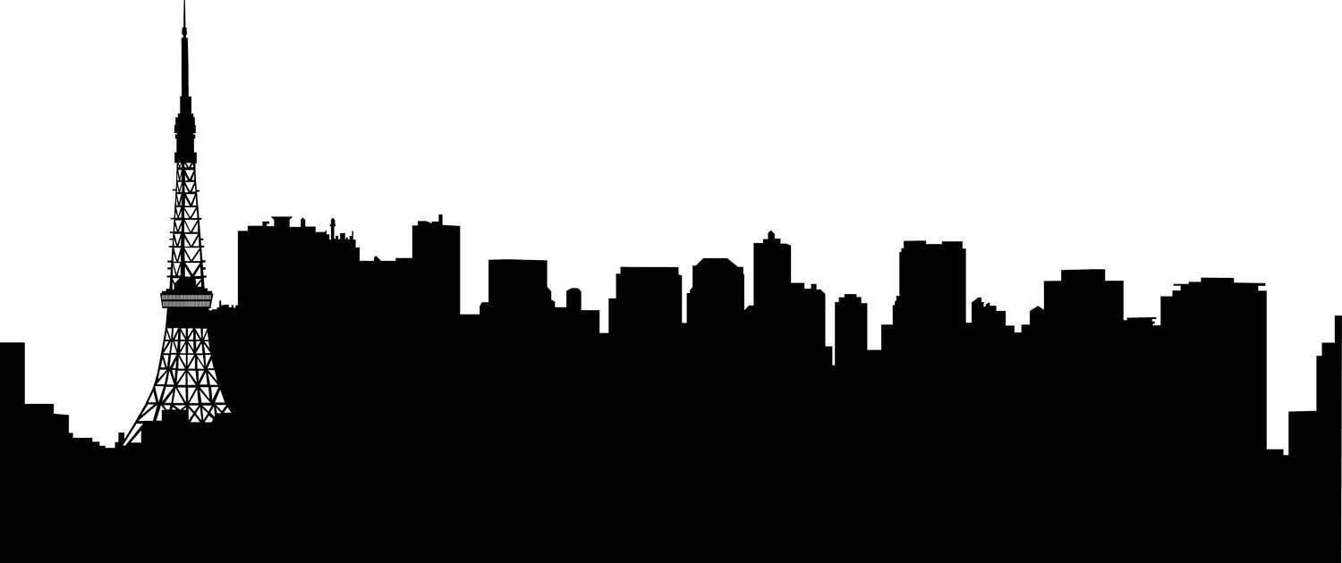 Tokyo clipart Tokyo Skyline Clipart Tokyo Cutting in Silhouette City