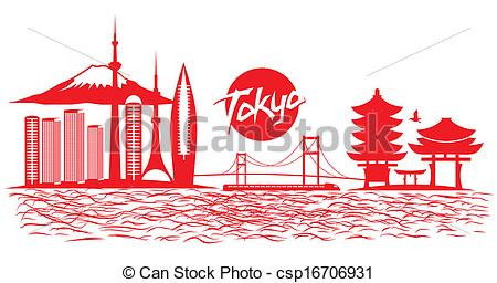 Tokyo clipart Tokyo Skyline Clipart Vector Vectors Search vector city