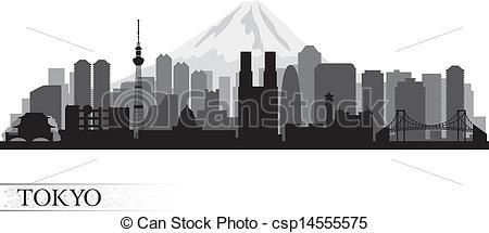 Tokyo clipart Tokyo Skyline Clipart Tokyo Illustration  csp14555575 silhouette