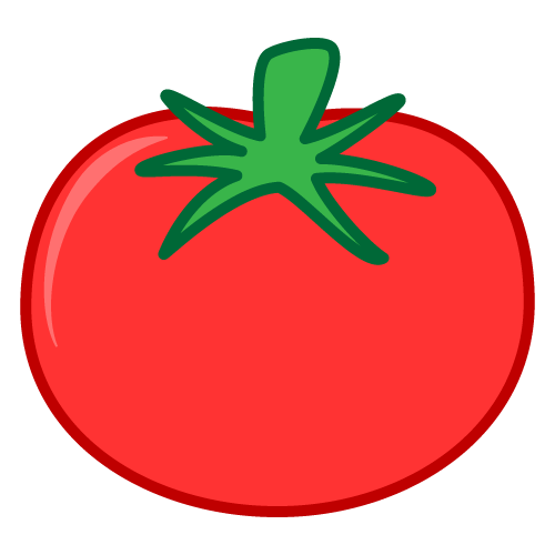 Red clipart tomato #3