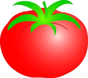 Red clipart tomato #2