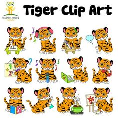 White Tiger clipart b&w Color by 34 images Art