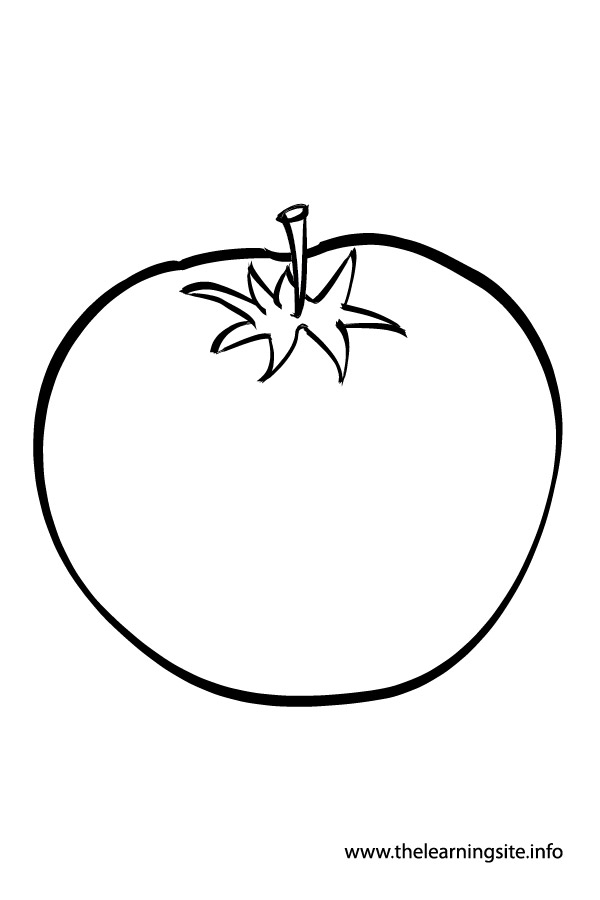 Tomato clipart outline Vegetables Colouring Outline For For