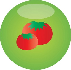 Tomato clipart two Clipart tomatoes two of two