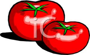 Tomato clipart two Clipart tomatoes Tomatoes Picture: Red