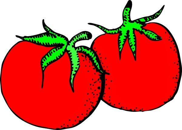 Tomato clipart vector Vector Tomatoes clip art