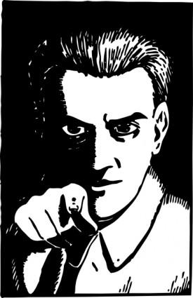Tombstone clipart creepy Creepy Guy Pointing Art Creepy