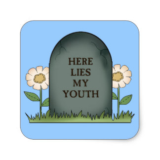 Tombstone clipart here lies Youth Lies Here on Zazzle