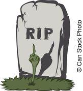 Tombstone clipart spooky  Spooky people dead Three