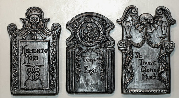 Tombstone clipart vintage Magnets set  of Tombstone