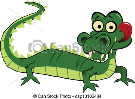 Alligator clipart caiman Looking alligator funny goofy A