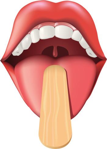 Tongue clipart depresser #2
