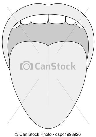 Tongue clipart outline #11