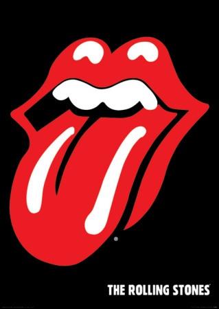 Tongue clipart rolling stones #13