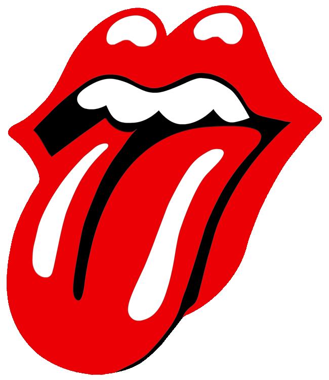 Tongue clipart rolling stones #9