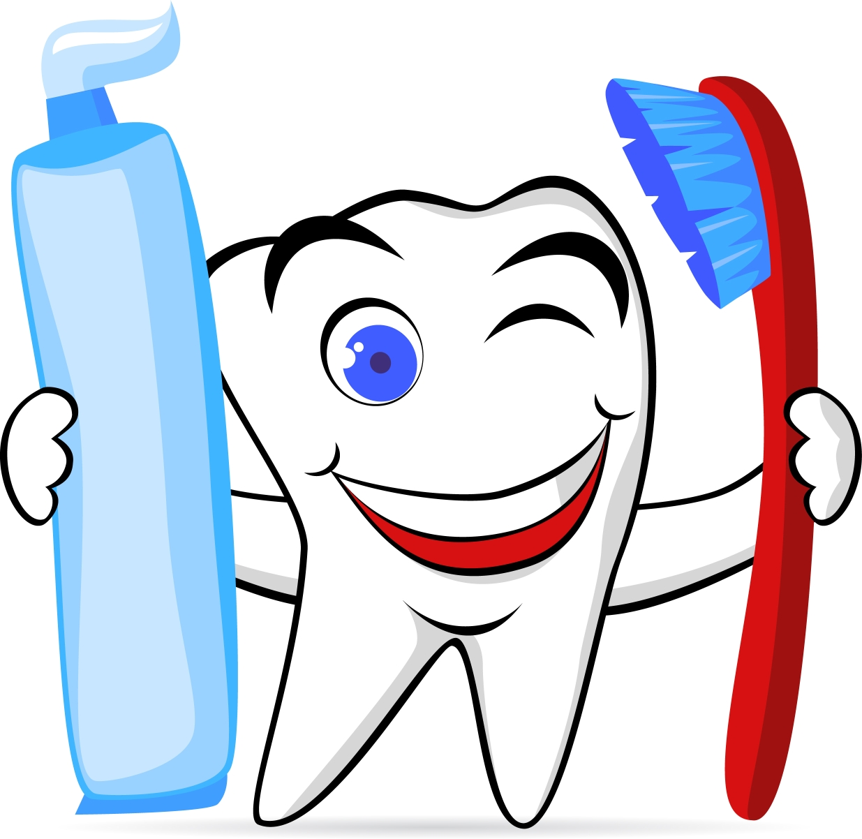Teeth clipart logo Kids clipart of toothbrush collection