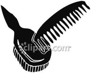 Brush clipart comb And Comb Brush Free Clipart
