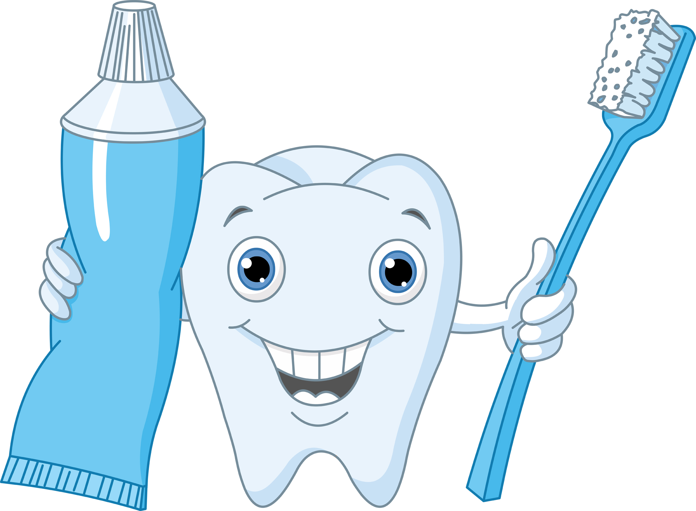 Toothbrush clipart dental care #6