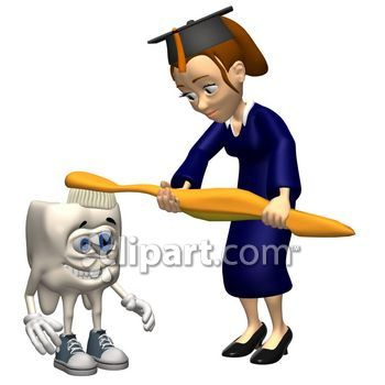 Teeth clipart dental school School tooth brushing graduation toothbrush