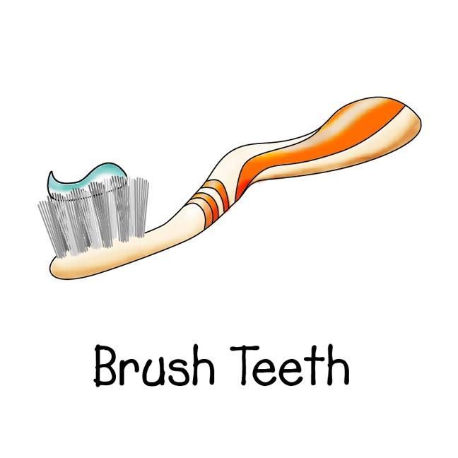 Toothbrush clipart kid chore #11