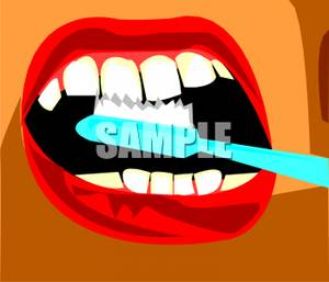 Toothbrush clipart mouth #2