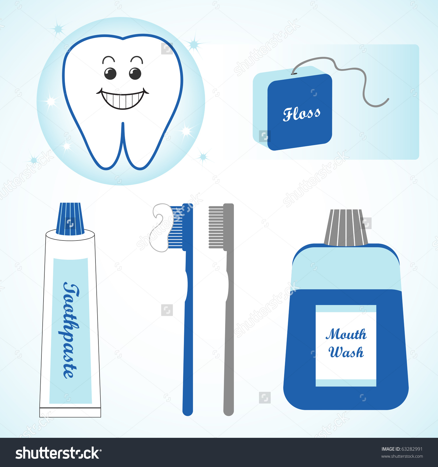 Toothbrush clipart mouth #5