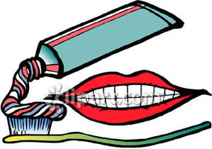 Toothbrush clipart mouth #1